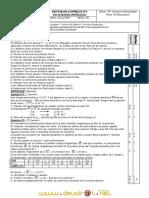 Devoir de Contrôle N°1 - Physique - 3ème Informatique (2007-2008) Mr Boussaidi fayçal