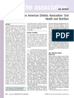 Position of the American Dietetic Association