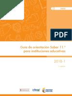 Guia de Orientacion Saber 11 Para Instituciones Educativas 2018-1