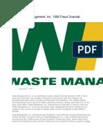 Waste Management Scandal