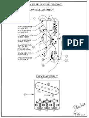 [SCHEMATICS_44OR]  Fender - Guitar - Telecaster Wiring Diagram.pdf   Musical Instruments    Guitar Family Instruments   Fender American Standard Telecaster Wiring Diagram Free Picture      Scribd