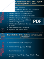 Return and Risk Capital Asset Pricing Model CAPM Ch10