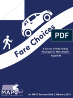 Fare Choices MAPC