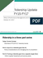MBTA Ridership Update FY15-FY17