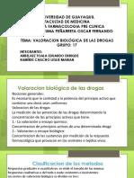 Valoracion Biológica de Las Drogas Ppt