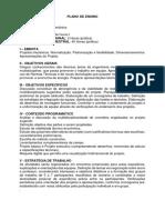 Planos de Ensino 9º Semestre Engenharia Mecânica Grade 2014.1