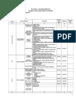 Clasa v - EFS - Planul Calendaristic Semestrial I Tepes 2017-2018