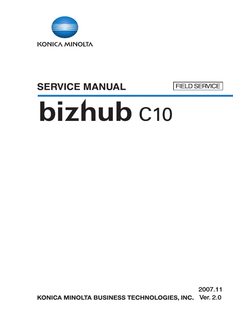 Konica-Minolta Bizhub Printer C10 Parts and Service Manual   Ac Power Plugs  And Sockets   Electrical Connector
