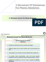 Chapter 3 Movement of Substances Across the Plasma Membrane
