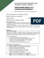 Planificación Anual 2017 Taller Electronica
