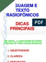 Linguagem e Texto Radiofônicos