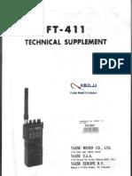 Yaesu FT-411 Technical Supplement Service Manual