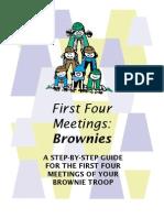 Brownie First Four Meetings