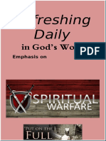 "Emphasis On ""Spiritual Warfare""   March 2018"