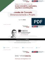 Paredes de Concreto - Análise - Dimensionamento - Projeto