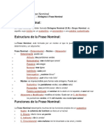 Ejemplos de Frase Nominal