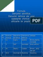 Formule Chimice Pentru Substante Chimice Uzuale