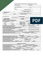 Cuestionario de Identificación Personal, Sociocultural y Familiar
