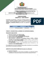 CDO 370 LA PAZ Inst Comer Sup de La Nacion INCOS El Alto OK