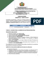 CDO 411 LA PAZ Int Tecnologico Bolivia Mar