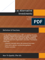 REITS as alternative investments