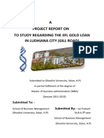 125838218 Project on Gold Loan j p