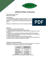 Información Técnica de Biovento (20-Sep-2016)