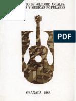 Contenido I Congreso de Folclore Andaluz 1986