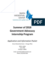 Chicago Government Advocacy Internship Application