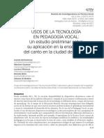 Usos de La Tecnología en Pedagogía Vocal