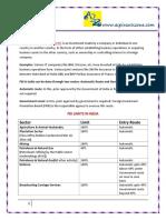 FDI Limits in India
