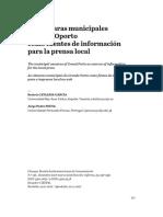 Las cámaras municipales de Gran Oporto como fuentes de información para la prensa local