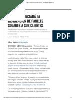 Slim Te Financia Los Paneles Solares..