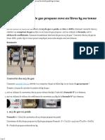 Convertir Des m3 de Gaz Propane Cuve en Litres Kg Ou Tonne de Gaz