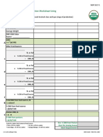 Dry Matter Intake Calc Worksheet Using Body Weight Value