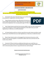 VIYAC Youth Report Card_Questionnaire (Senators & Delegate to Congress)