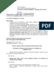 TEMATICA Examenului de Admitere La DOCTORAT 15 Sept 2010