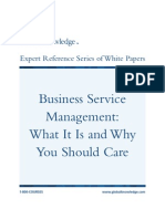 Business Service Management What It is and Why You Should Care
