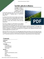Cadmium Telluride Photovoltaics - Wikipedia