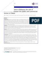 Eliminating Malaria in Malaysia the Role of Partnership Between the Public and Commercial Sectors in Sabah