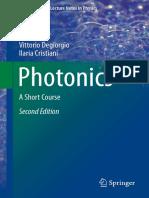 Photonics, A Short Course - Degiorgio