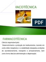 Farmacotécnica-conceitos e Legislação