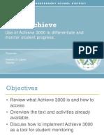 plc on achieve3000