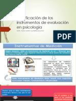 Clasificación de Los Instrumentos de Evaluación en Psicologia