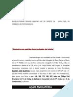 Acao Anulatoria Cheque Conta Corrente Indenizacao Dano Moral Modelo 51 BC151