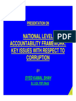 National Level Accountability Framework Key Issues With Respect to Corruption- Syed Kamal Shah