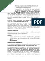 Acta Aclaratoria Iglesia Evangelica