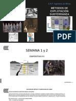 Diapositiva # 4 Métodos Subterráneos 2017 I S 1-2