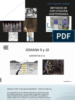Diapositiva # 15 Métodos Subterráneos 2017 I S 9-10
