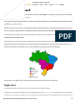 As 5 Regiões Do Brasil - Resumo